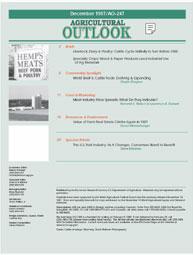Agricultural Outlook : December 1997 Volume Issue December 1997 by Usda
