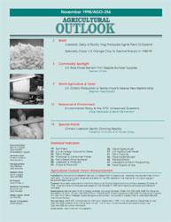 Agricultural Outlook : November 1998 Volume Issue November 1998 by Usda