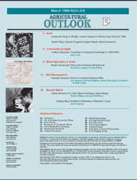 Agricultural Outlook : March 1999 Volume Issue March 1999 by Usda