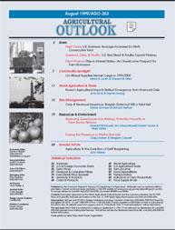 Agricultural Outlook : August 1999 Volume Issue August 1999 by Usda