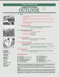 Agricultural Outlook : October 1999 Volume Issue October 1999 by Usda