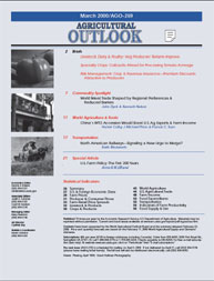 Agricultural Outlook : March 2000 Volume Issue March 2000 by Usda