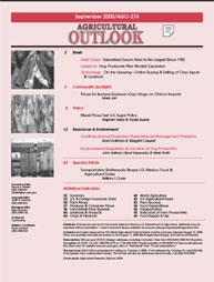 Agricultural Outlook : September 2000 Volume Issue September 2000 by Usda