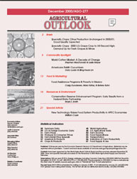 Agricultural Outlook : December 2000 Volume Issue December 2000 by Usda