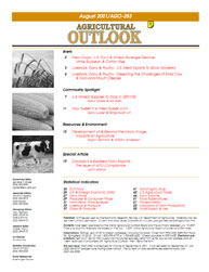 Agricultural Outlook : August 2001 Volume Issue August 2001 by Usda