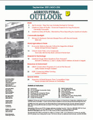Agricultural Outlook : September 2001 Volume Issue September 2001 by Usda