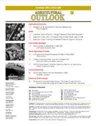 Agricultural Outlook : October 2001 Volume Issue October 2001 by Usda