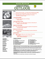 Agricultural Outlook : November 2001 Volume Issue November 2001 by Usda