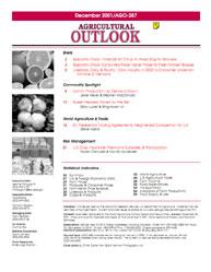 Agricultural Outlook : December 2001 Volume Issue December 2001 by Usda