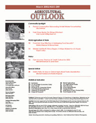 Agricultrual Outlook : March 2002 Volume Issue March 2002 by Usda