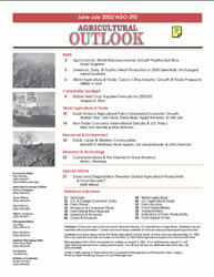 Agricultural Outlook : June-July 2002 Volume Issue June-July 2002 by Usda