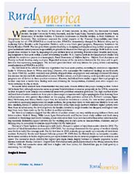 Rural America; Volume 16, Issue 3; Decem... by Bowers, Douglas