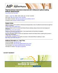 Journal of Applied Physics : Thermal pho... Volume Issue : November 2008 by Yasuo Minami and Keiji Sakai