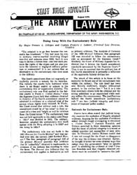 The Army Lawyer : August 1975 ; Da Pam 2... Volume August 1975 ; DA PAM 27-50-32 by Alcala, Ronald T. P.
