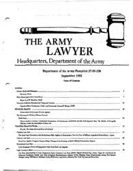 The Army Lawyer : September 1992 ; Da Pa... Volume September 1992 ; DA PAM 27-50-237 by Alcala, Ronald T. P.