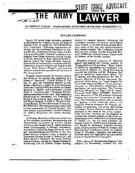 The Army Lawyer : October 1974 ; Da Pam ... Volume October 1974 ; DA PAM 27-50-22 by Alcala, Ronald T. P.