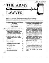 The Army Lawyer : October 1983 ; Da Pam ... Volume October 1983 ; DA PAM 27-50-130 by Alcala, Ronald T. P.