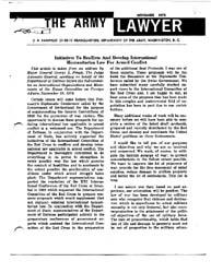 The Army Lawyer : November 1973 ; Da Pam... Volume November 1973 ; DA PAM 27-50-11 by Alcala, Ronald T. P.