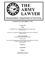The Army Lawyer : November 2005 ; Da Pam... Volume November 2005 ; DA PAM 27-50-390 by Alcala, Ronald T. P.