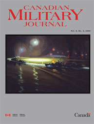 Canadian Military Journal; Autumn 2008 Volume 9, Issue 3 by Bashow, Dave