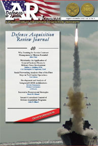 Defense Acquisition Review Journal : Aug... Volume August-November 2005 by Fagan-Blanch, Norene L.