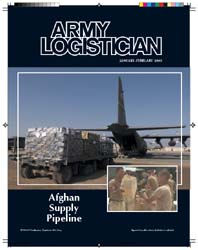 Army Logistician; January-February 2003 Volume 35, Issue 1 by Heretick, Janice W.