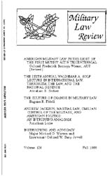 Military Law Review : October 1989 ; Vol... by Department of the Army, Headquarters