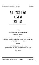 Military Law Review : April 1973 ; Volum... by Department of the Army, Headquarters