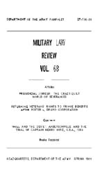 Military Law Review : April 1975 ; Volum... by Department of the Army, Headquarters