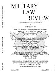 Military Law Review : April 1985 ; Volum... by Department of the Army, Headquarters