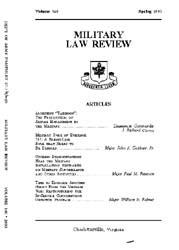 Military Law Review : April 1993 ; Volum... by Department of the Army, Headquarters