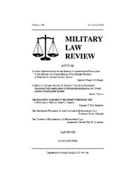 Military Law Review : December 2000 ; Vo... by Department of the Army, Headquarters