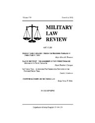 Military Law Review : December 2002 ; Vo... by Department of the Army, Headquarters
