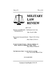 Military Law Review : December 2003 ; Vo... by Department of the Army, Headquarters