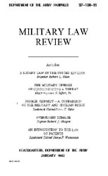 Military Law Review : January 1962 ; Vol... by Department of the Army, Headquarters