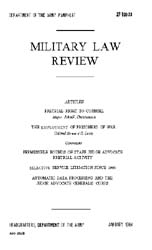 Military Law Review : January 1964 ; Vol... by Department of the Army, Headquarters