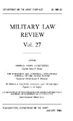 Military Law Review : January 1965 ; Vol... by Department of the Army, Headquarters