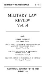 Military Law Review : January 1966 ; Vol... by Department of the Army, Headquarters