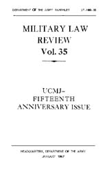 Military Law Review : January 1967 ; Vol... by Department of the Army, Headquarters
