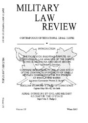 Military Law Review : January 1985 ; Vol... by Department of the Army, Headquarters