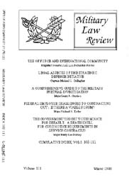 Military Law Review : January 1986 ; Vol... by Department of the Army, Headquarters