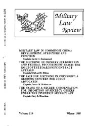 Military Law Review : January 1988 ; Vol... by Department of the Army, Headquarters