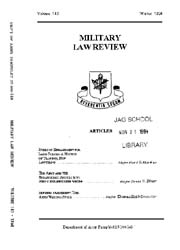 Military Law Review : January 1994 ; Vol... by Department of the Army, Headquarters
