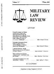 Military Law Review : January 1995 ; Vol... by Department of the Army, Headquarters