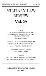 Military Law Review : July 1965 ; Volume... by Department of the Army, Headquarters