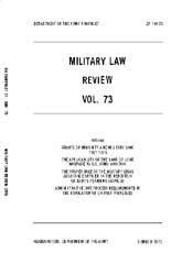 Military Law Review : July 1976 ; Volume... by Department of the Army, Headquarters