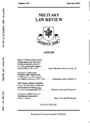 Military Law Review : July 1994 ; Volume... by Department of the Army, Headquarters