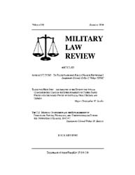 Military Law Review : Summer 2004 ; Volu... by Department of the Army, Headquarters
