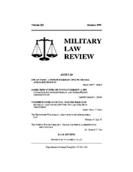 Military Law Review : Summer 2005 ; Volu... by Department of the Army, Headquarters
