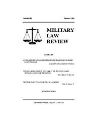 Military Law Review : Summer 2006 ; Volu... by Department of the Army, Headquarters